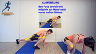 dynamisches Stretching der Hüftbeuger, Hüftstrecker,Stretchingübungen, Physio Übungen, Video