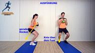 Käftigungsübung, Kettlebell für Beine, Rücken, Schultern, Physio Übungen