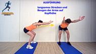 Käftigungsübung für Rücken und Schultern, Physio Übungen