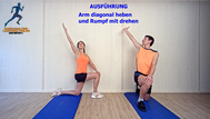 dynamisches Stretching, Brustmuskulatur, Rumpfrotation, Stretchingübungen, Physio Übungen, Video