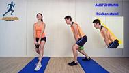 Käftigungsübung, Kettlebell für Beine, Rumpf, Physio Übungen