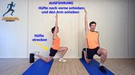 dynamisches Stretching der Oberschenkelvorderseite, Stretchingübungen, Physio Übungen, Video
