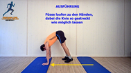 dynamisches Stretching, Handwalk. Raupe,Stretchingübungen, Physio Übungen, Video