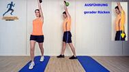Käftigungsübung, Kettlebell für Rücken, Hüfte, Physio Übungen