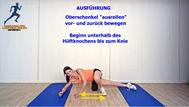 Mobilisationsübung der Faszien, Black Roll, Physio Übungen, Oberschenkel