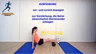 Mobilisationsübung der Faszien, Black Roll, Physio Übungen, Unterschenkel