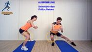 dynamisches Stretching der Adduktoren, Stretchingübungen, Physio Übungen