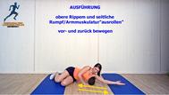 Mobilisationsübung der Faszien, Black Roll, Physio Übungen, Rumpf, Oberarm