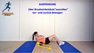 Mobilisationsübung der Faszien, Black Roll, Physio Übungen, Brustwirbelsäule