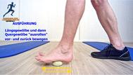 Mobilisationsübung der Faszien, Black Roll, Physio Übungen