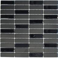 Rutschfest Mosaik Glas Keramik schwarz