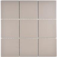 Mosaikfliese 10x10 cm Rutschhemmend hellgrau