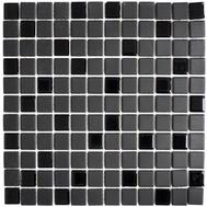 Mosaik rutschhemmend mit Glas schwarz