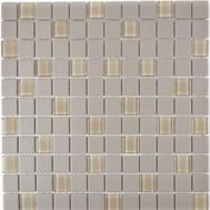 Mosaik rutschhemmend mit Glas hellgrau