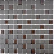 Mosaik rutschhemmend mit Glas braun