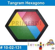 tangram hexagono de madera material didactico