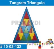 tangram triangulo de madera material didactico