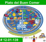 Plato del Buen Comer MATERIAL DIDACTICO FOAMY  INTQUIETOYS PRIMERDI