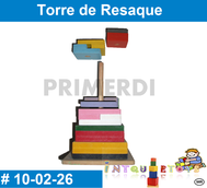 Torre de Resaque MATERIAL DIDACTICO MADERA INTQUIETOYS PRIMERDI