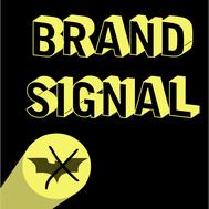 Logo Brand Signal, inspiré par le batsignal de Batman, développé par l'imprimerie orbitale