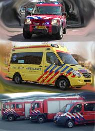 brandweer en ambulance