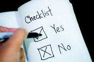 Checkliste, um Entscheidung zu treffen