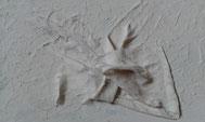 Weiß in weiß überdeckend. Konturen sind sichtbar und spürbar. Zu ertasten mit den Fingern, mit den Händen greifbar. Mit allen Sinnen erfahrbar.