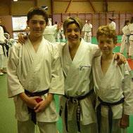 Sabrina Buil entourée de Tom et Kilian