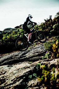Testen Sie das Fahrgefühl auf einem e-Mountainbike bei einer Probefahrt.