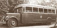 Le bus Cherbourg-Urville en 1945