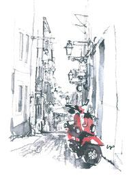 「赤いスクーター/リスボン・ポルトガル」SM