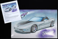 Corvette C5 custom art print from Lemireart