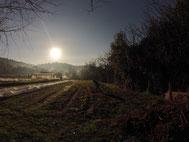 JVS, le soleil du fond de la vallée