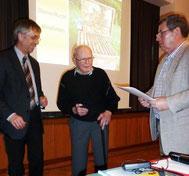 Foto: von links J.Frühling, G. Dietrich, K. Meinshausen