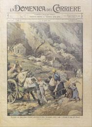 La tavola di Beltrame sulla frana di Clauzetto (1914)