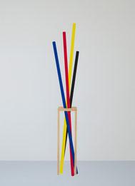 Eva Taulois, Le Mikado, Série Haute fidélité, 2015, sérigraphie, collection artothèque du musée des beaux-arts de Brest métropole. © ADAGP, Paris, 2016.