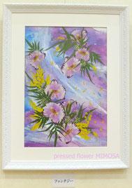 春色の押し花アート