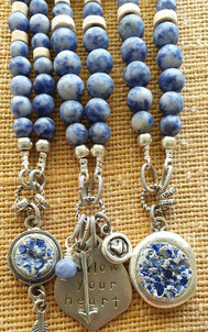Blue sodalite inspirational gemstone necklaces handmade in Noosa Australia