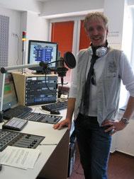 Peer Wagener im Citystudio radio leinehertz 106.5 in Hannover