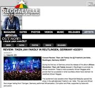 Tiken Jah Fakoly, Mayembé Malayika, Reggaeville Article