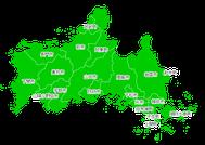 ポスティング山口(山陽瀬戸内中国九州)配布部数表