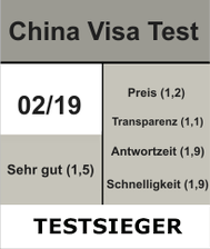 China Visa Testsieger