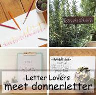 Letter Lovers: donnerletter zu Gast mit einer Anleitung für Kräuterschilder selbstgemacht