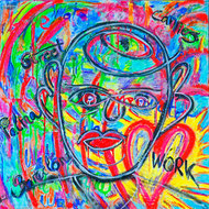 Streetwork, Cannes, Divo Santino, Gesicht, Herz, Liebe, Sonne, Work, Barcelona, Street, bunt, farbenfroh, Acryl, Graffiti, strahlen