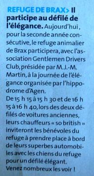 Le Petit Bleu n° 1488 du dimanche 20 septembre 2015