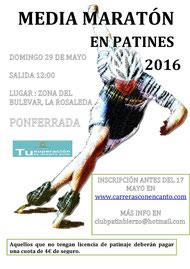 """M. MARATON PATINES """"CIUDAD DE PONFERRADA"""" - Ponferrada, 29-05-2016"""