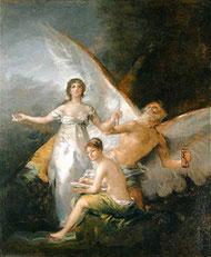 Alegoría de la Constitución de 1812, Francisco de Goya, Museo de Estocolmo.