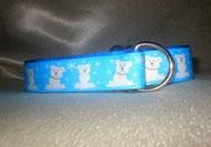 Zugstopp-Halsband Borte Eisbären 2,5 cm