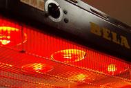 Rotlichtstrahler für Heißlufttherapie