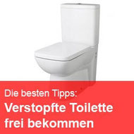 Toilette verstopft